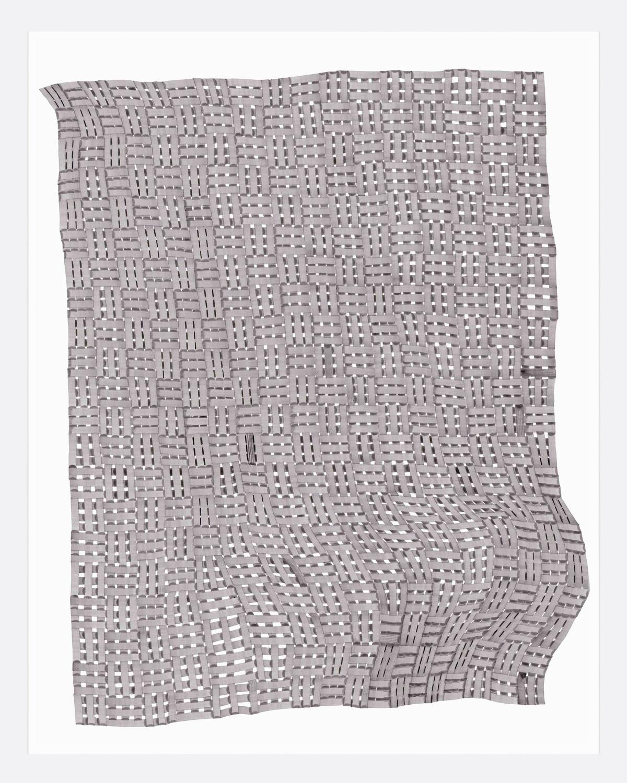 Woven Lines 34 ,  2019   acrylic on yupo heavy 14 x 11 in (35.56 x 27.9 cm)