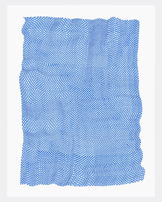 Squares 27 ,  2019   acrylic on yupo heavy 26 x 20 in (66 x 50.8 cm)