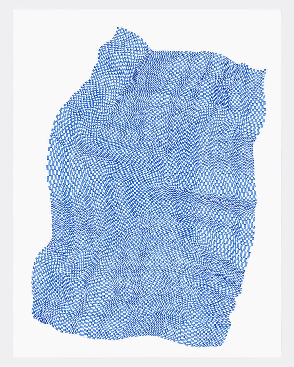 Squares 28 ,  2019   acrylic on yupo heavy 26 x 20 in (66 x 50.8 cm)