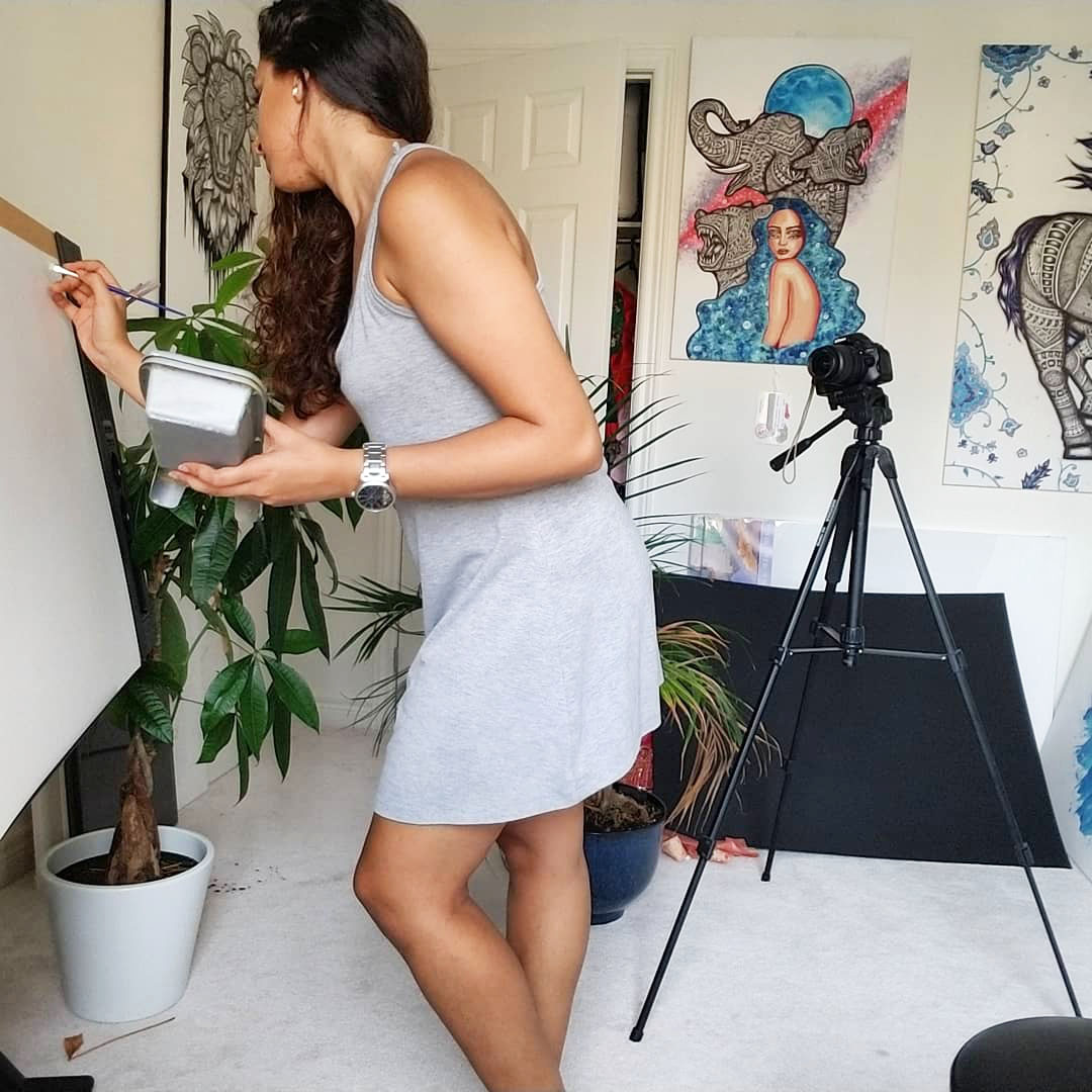 meet The host - Toronto Artist, Jasmin Pannu, hosts The Artist Show Podcast. A successful artist, former marketer and self-growth enthusiast herself, she chats with other artists on a bi-weekly basis about everything it takes to be an artist for a living.