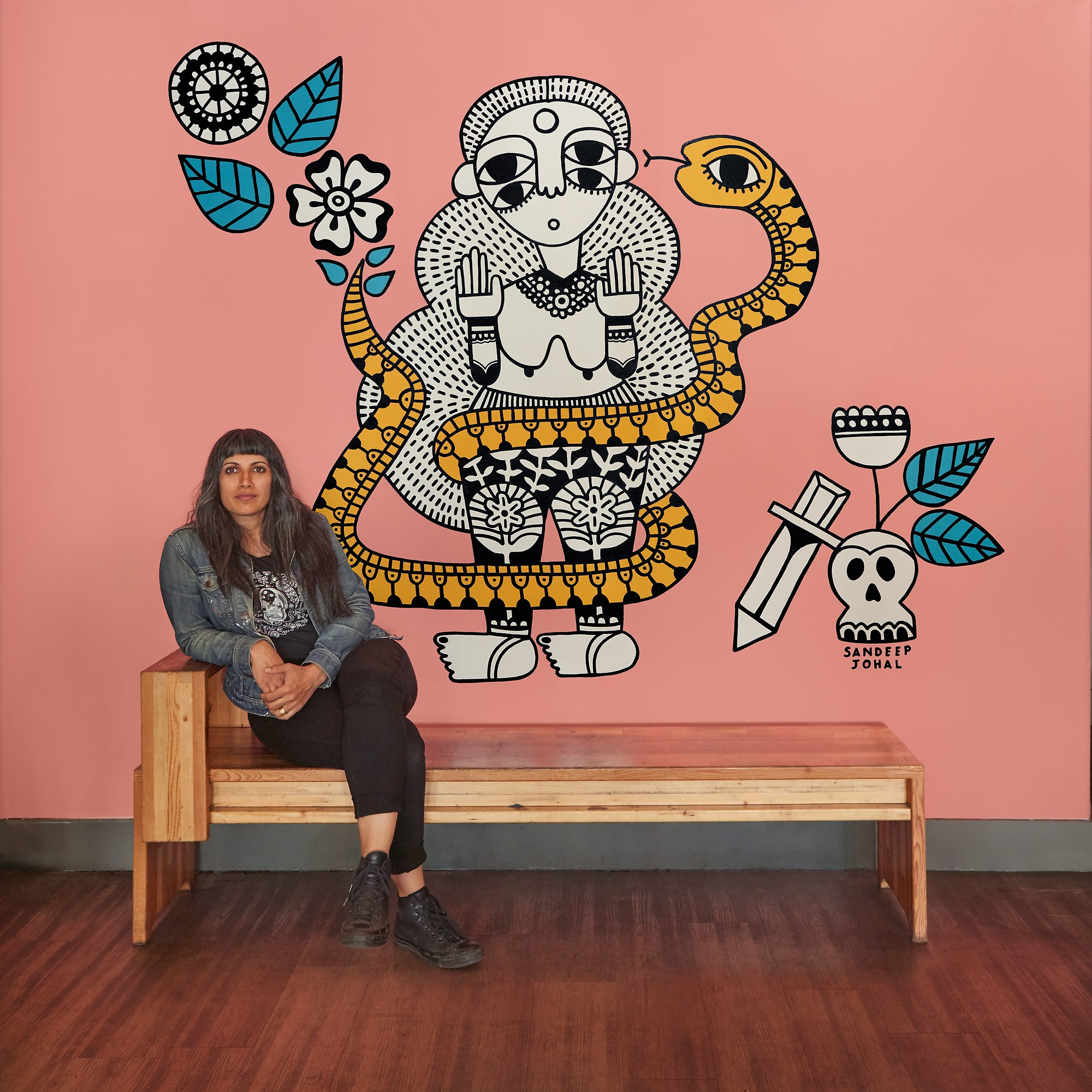 art school, cultural inspiration and changing careers with sandeep johal - Sandeep Johal puts on prestigious gallery shows, paints larger-than-life murals, has an impressive press list and gives art talks all over the Vancouver arts scene… and she just switched careers to become an artist a few years ago. In this episode, we talk about how she built her impressive career as an artist.