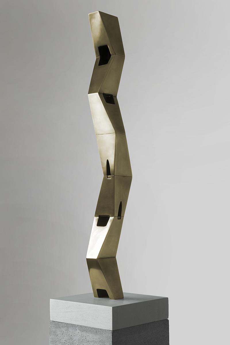 """Tropos (for Mina Loy) IV/I/II ,  Bronze 41 1/2 x 6 x 6"""""""