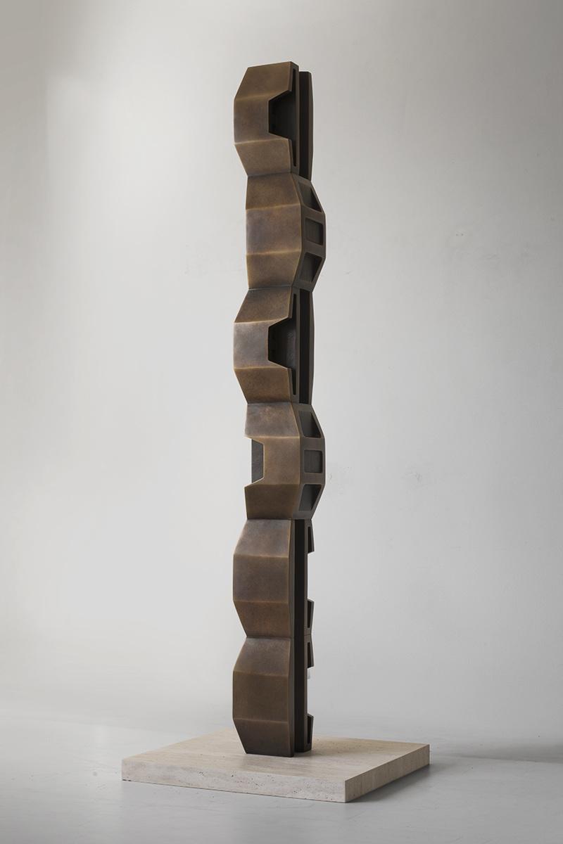 """Gnomon , 2014-2017 Bronze 6 1/4 x 6 1/8 x 71 """""""