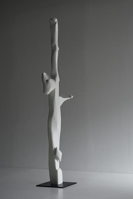 "Mnemosyne,  2018  Unique work in a series of 3 Bronze 12 x 22 x 76""."