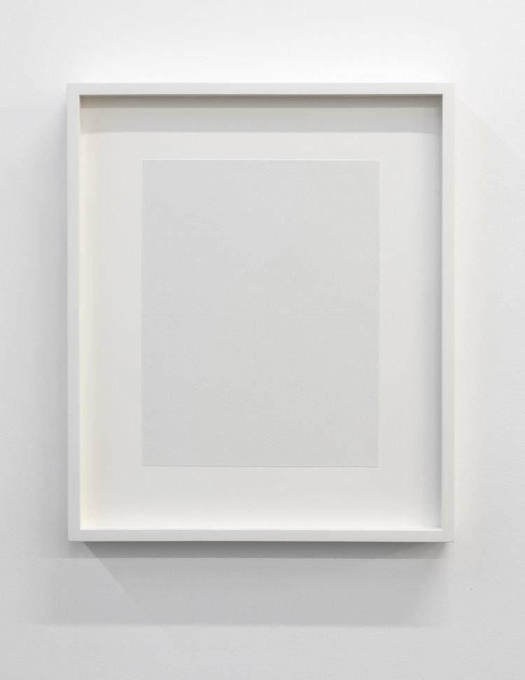 """Paper series 01, 2016,  aeinture acrylique pliée, 16 x 13 1/2""""."""