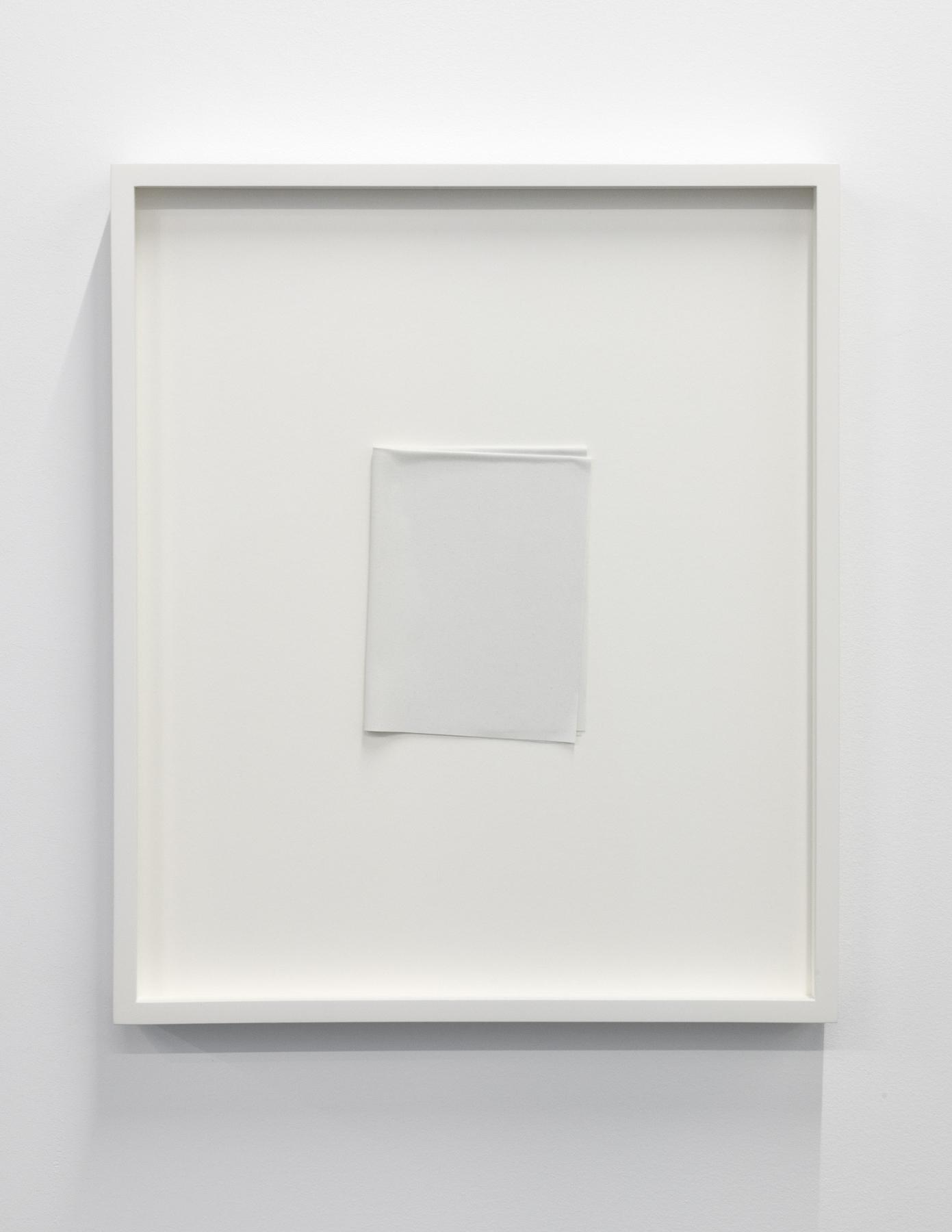 """Paper series 06, 2016,  einture acrylique pliée, 16 x 13 1/2""""."""