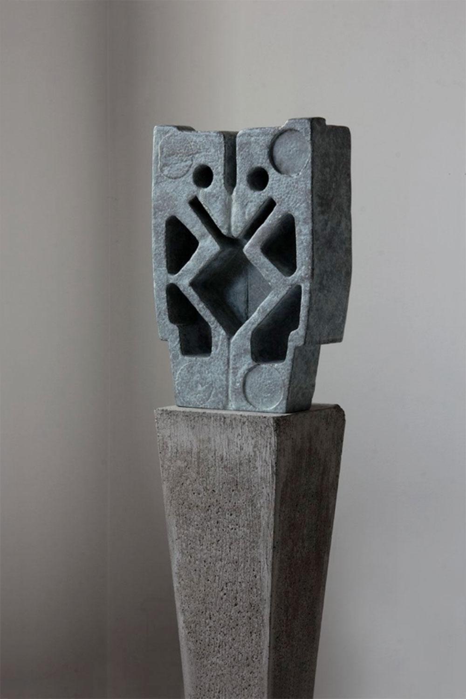 """Sentinel (III) , 2016 Pièce unique dans une série de 4 Bronze 3 1/8 x 6 1/4 x 9 3/8""""."""