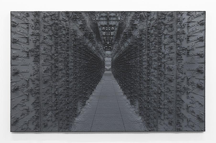 """Jungle , 2017, Mousse haute densité, epoxy, 42 1/8 x 68""""."""