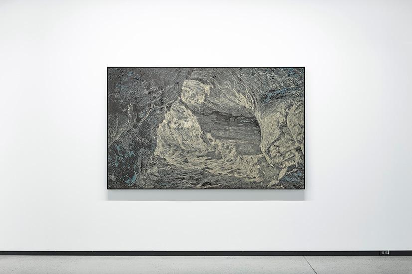 Percée , 2016, Acrylique sur toile, 130 x 208 cm.
