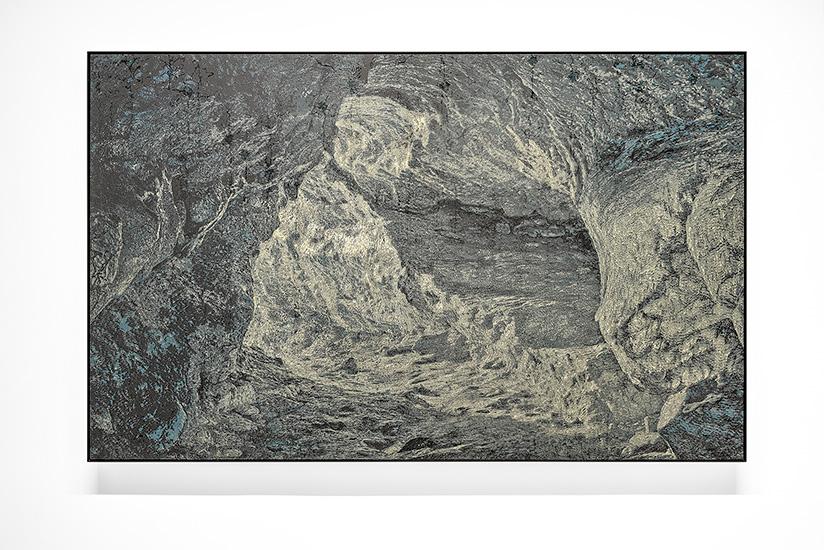 Percée , 2016, Acrylique sur toile, 130 x 208 cm (Détail).