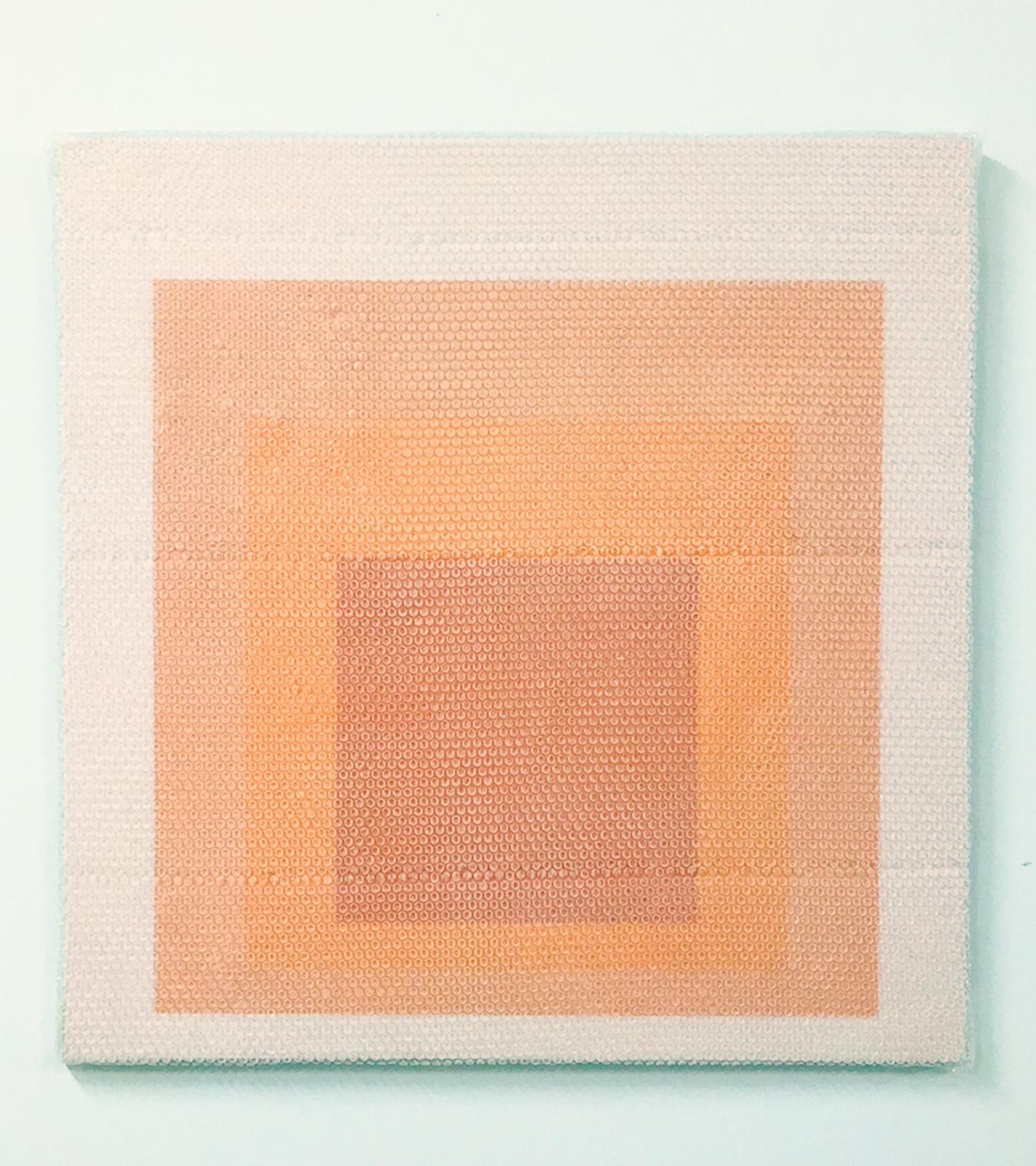 "Homage to the square #2,  2018,  Acrylique sur toile 36"" X 36""."