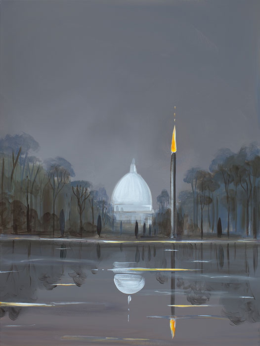 Capitol- Standing Withstanding , 2018, Acrylique sur toile