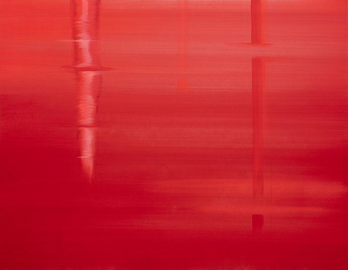 """Unseen Seen , 2017, Acrylique sur toile, 30 x 40""""."""