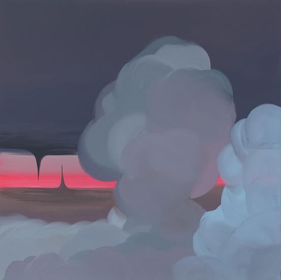 """Evaporate, 2008,  Acrylique sur toile, 48 x 48""""."""
