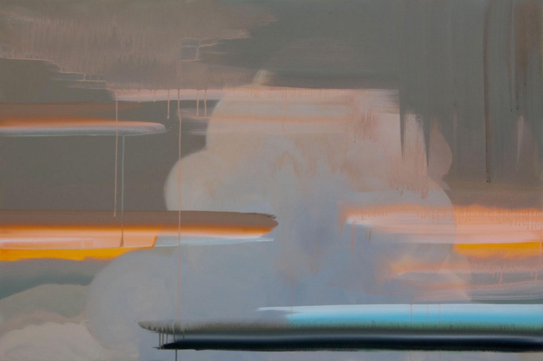 """SEEWAY (Cloud) , 2010 Acrylique sur toile  40 x 60""""."""
