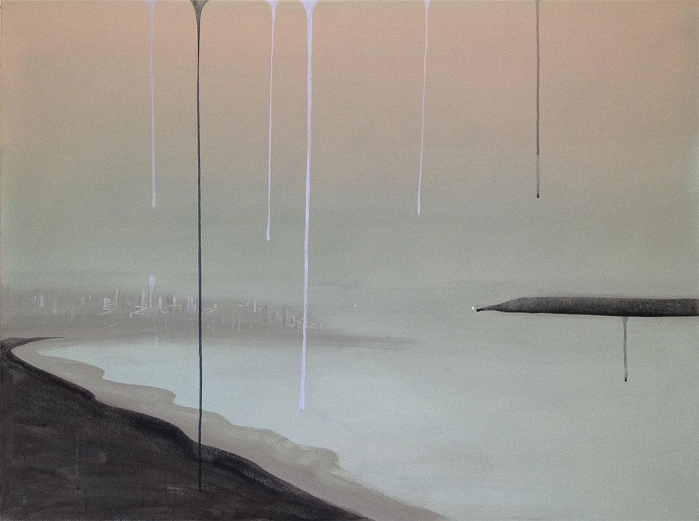 """Untitled,  2015 Acrylique sur toile  36 x 48""""."""