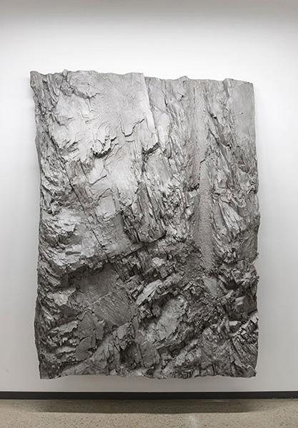"""Eaux Profondes,  2018, Pigment Sur Aluminium, 65 1/2 x 45""""."""