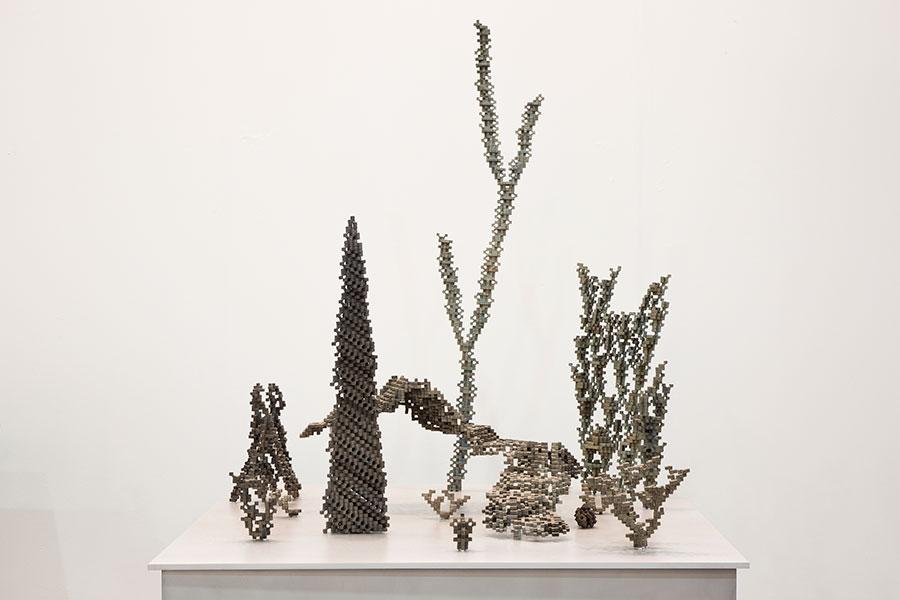 """Récif, Extrait 5a , 2018, Bronze Et Aluminium, 17 3/8 x 38 x 36""""."""