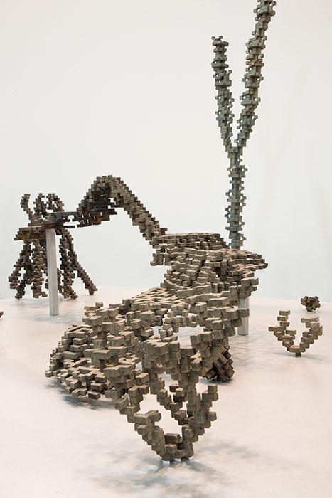 """Récif, Extrait 5a , 2018, Bronze Et Aluminium, 17 3/8 x 38 x 36"""" (Détail)."""