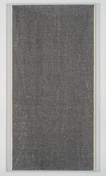 """Flottés 6 , 2015, Coton, Polyester, Et Rayonne, 77 x 40 3/4""""."""