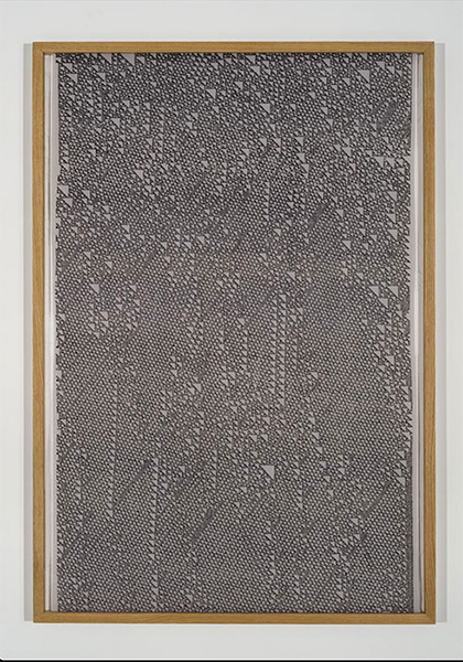 """Intrusions , 2014, Encre Sur Tissu, 72 x 48""""."""