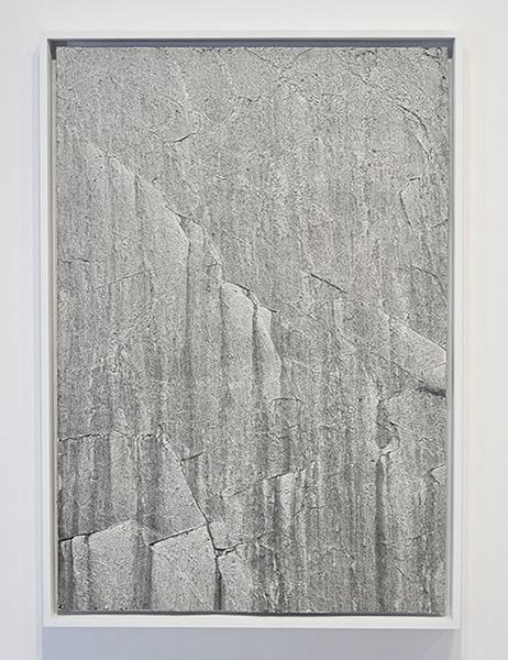 """Flux I (Grand Sault) , 2018, Émaux Et Acrylique Sur Papier, 50 3/8 x 35 3/8""""."""
