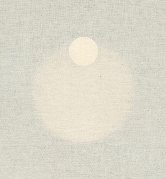 """Untitled (Point),  2015, Toile De Lin, Bois, Papier, Laiton, Et Mécanisme D'horloge, 15 1/4 x 15 1/4""""."""