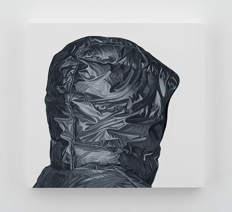 """Untitled  #79, 2016, Huile sur bois, 20 x 21 ½    """"."""