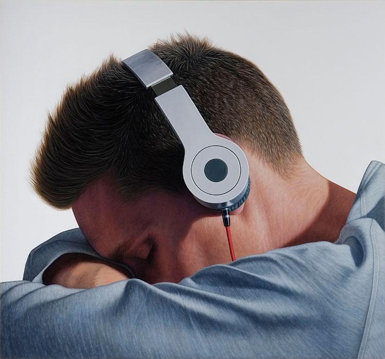 """Untitled  #57, 2012, Huile sur bois, 20 x 21 ½ """"."""