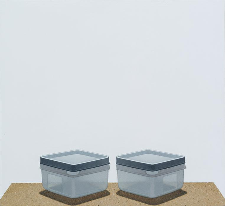 """Untitled , #61 2013-2014, Acrylique sur panneau de bois, 18 ½ x 20 """"."""