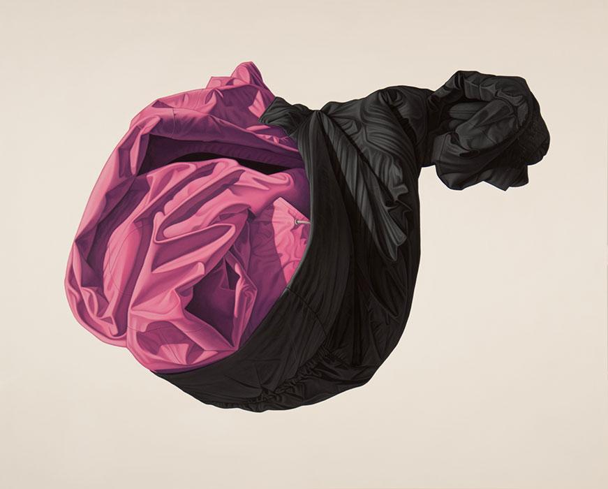"""Untitled , #74 2015, Huile sur bois, 36 x 44 ½ """"."""