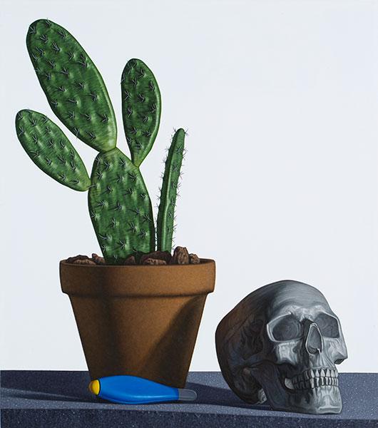 """Untitled  #58, 2013, Acrylique sur bois, 19 1/2 x 17 1/4""""."""