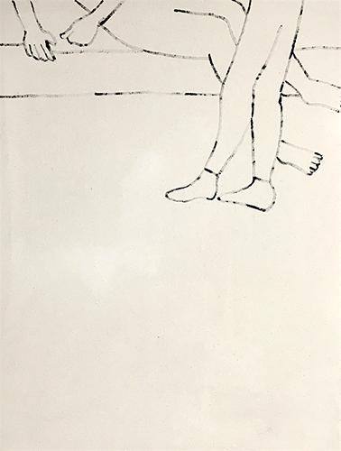 "Marco Polo,  2016, Acrylique sur toile, 32 x 24""."