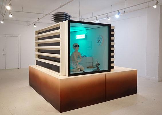 """La cellule , 2016, Techniques mixtes, 76 x 114 x 96""""."""