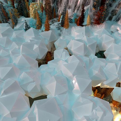 """Snow Hole,  2017, Épreuve à développement chromogène, Édition de 3, 36 x 36""""."""