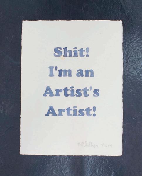 """Untitled , 2015, Aquarelle sur papier, 11 1/2 x 15""""."""