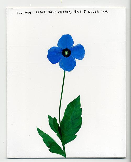 """Flower , Acrylique sur bois, 10 x 8""""."""