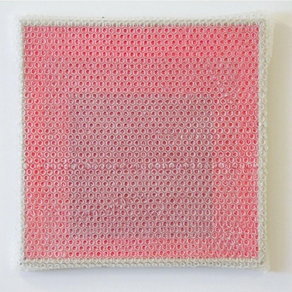 """Albers Study #9,  2018 Acrylique sur masonite avec encadrement de métal 16 x 16'""""."""