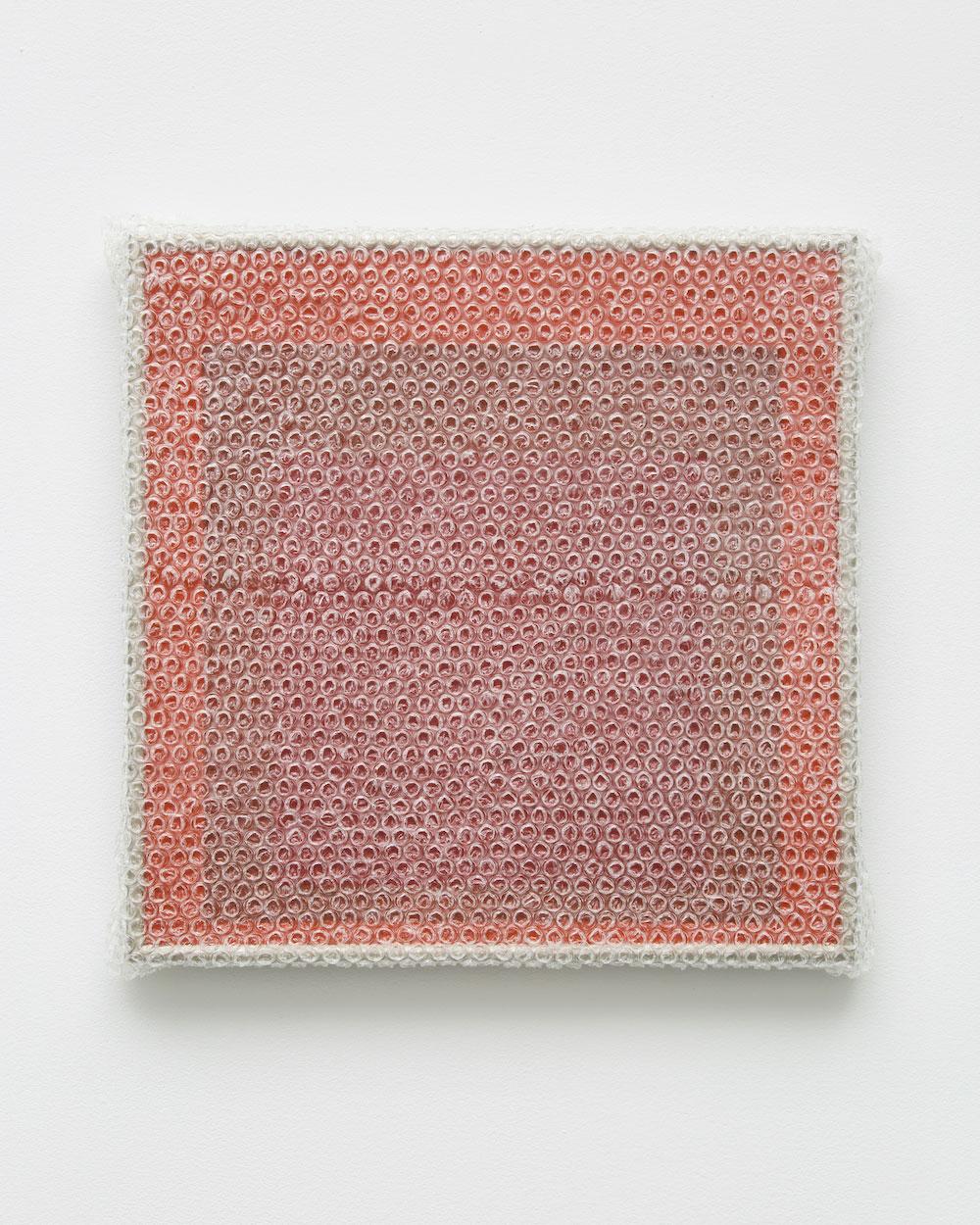 """Albers Study #8,  2018 Acrylique sur masonite avec encadrement de métal 16 x 16'""""."""