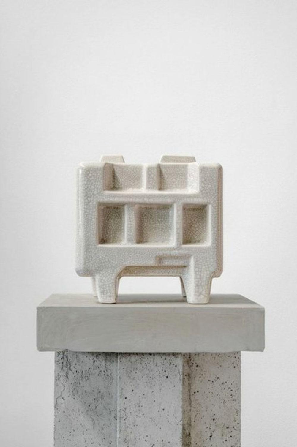"""Brutalist Rice Cooker , 2013 Ed. 1/1 AP  Poterie de grès issue de moules de coulage avec pigmentation sur glaçure  8 1/8 x 7 1/2 x 8 1/8""""."""