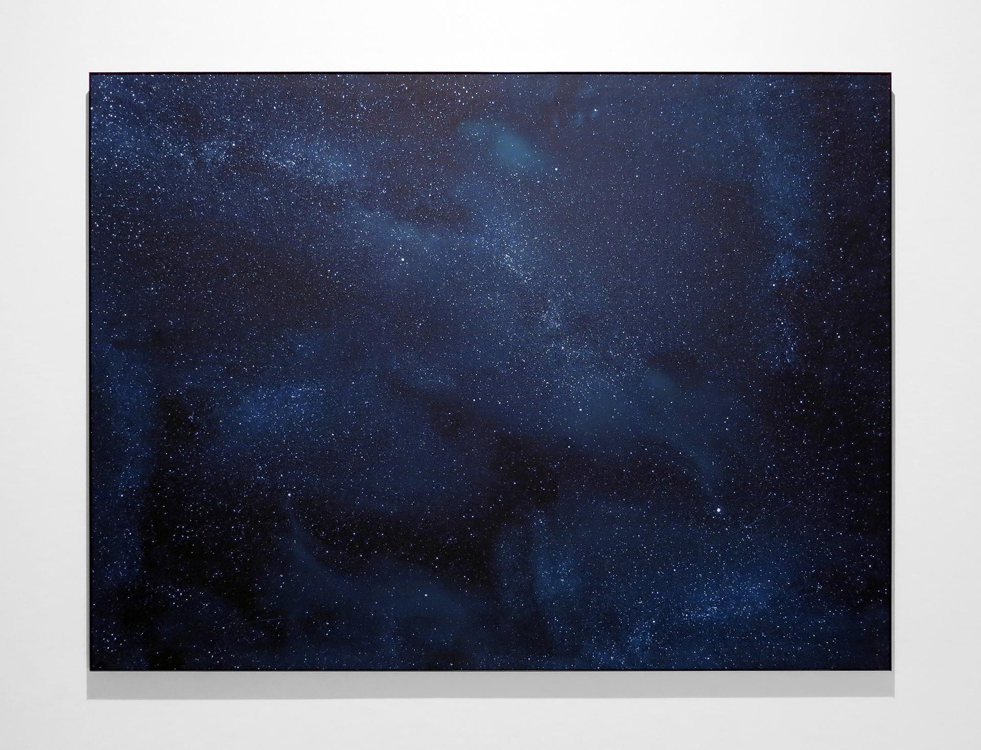 Illumination , 2013 Impression au jet d'encre, acrylique, acier 152 x 203 cm