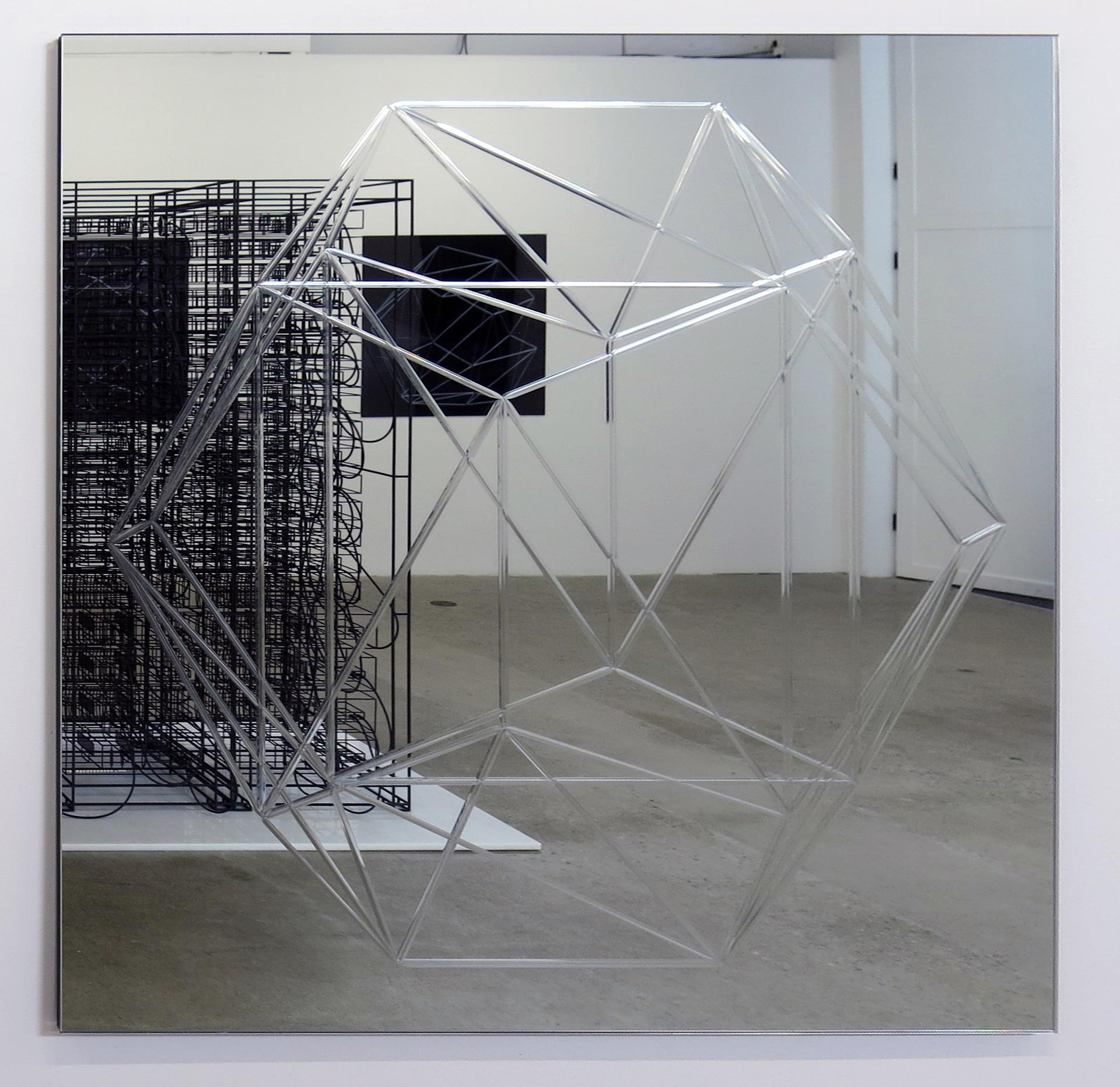Miroir (Dodécaèdre) 03   Miroir 107 x 107 cm