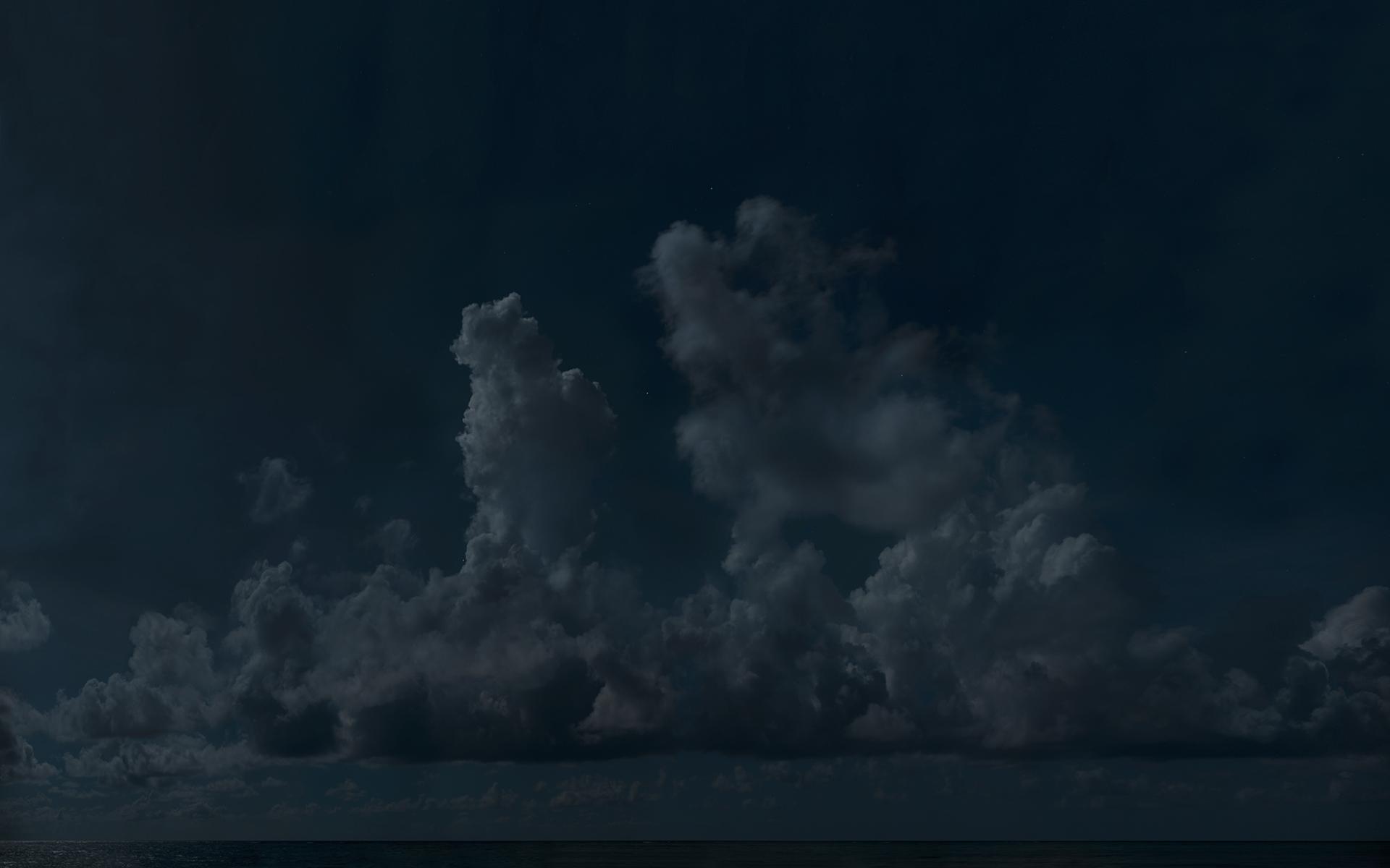 Troposphere , 2013  Impression au jet d'encre, acier  107 x 170 cm