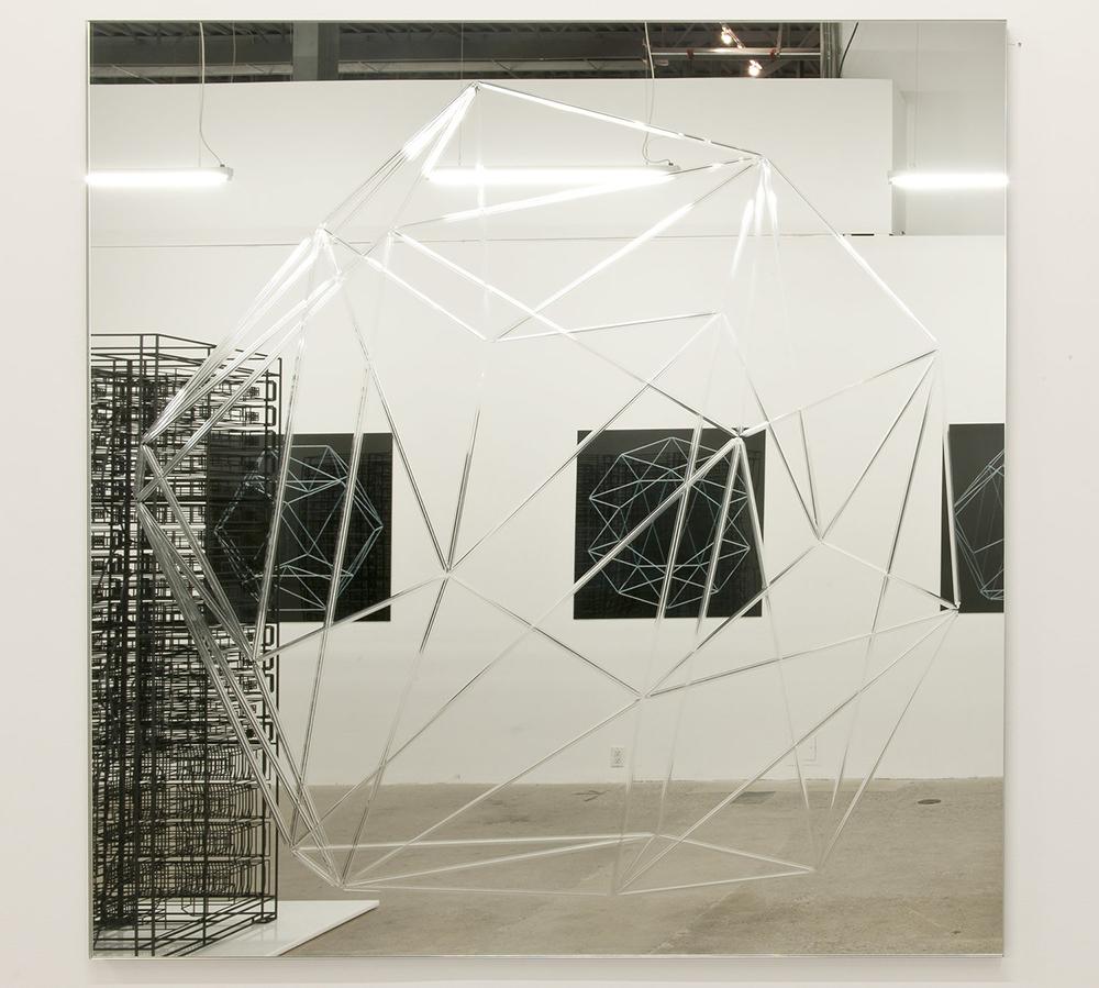 Miroir (Dodécaèdre)    01  , 2013 Miroir 107 x 107 cm