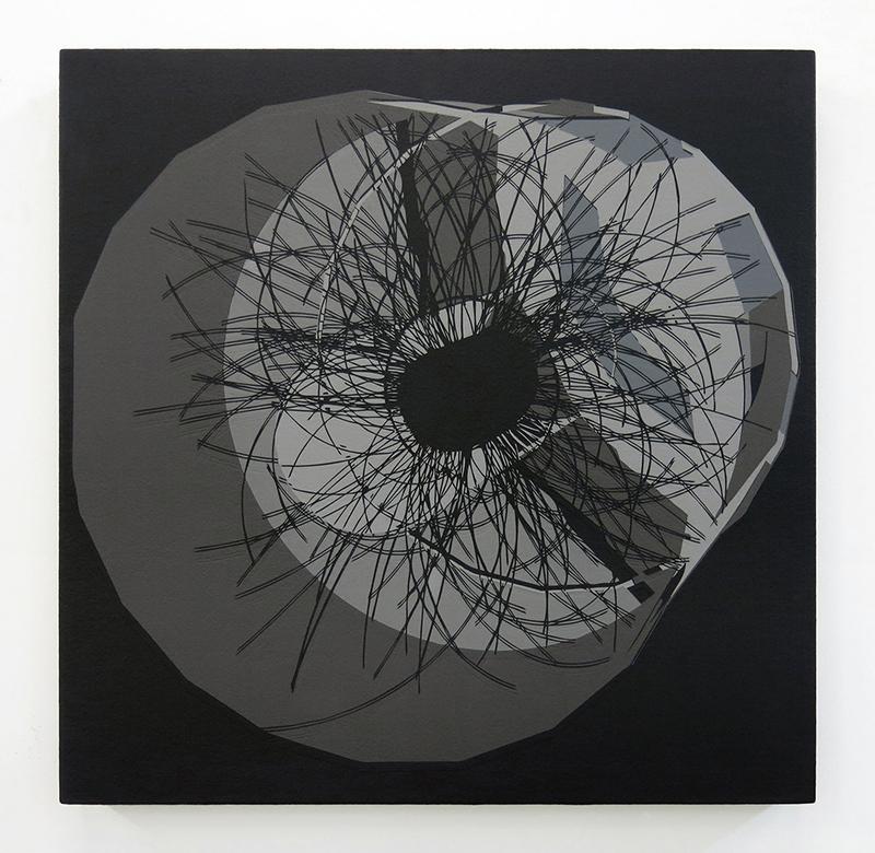 Production de masse B-03  2013 Acrylique sur toile 61 x 61 cm