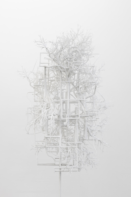 Synapses 05, 2017 Impression 3d par liage de poudre, acier 183 x 61 x 69 cm
