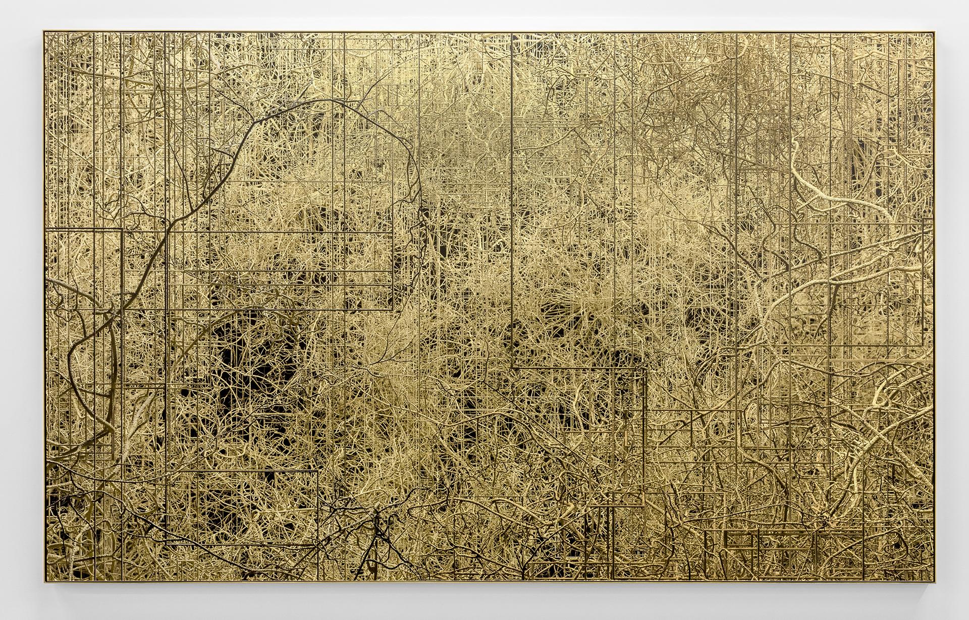 Connectifs, 2017 Impression au jet d'encre, acrylique, acier 147 x 239 cm