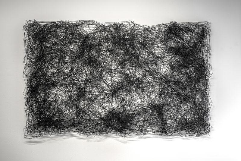 """Astérisme , 2016Acier, acrylique  53 x 81"""""""