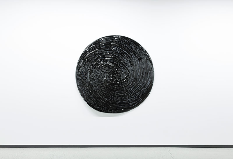 """Matière noire , 2016 Mousse haute densité, epoxy 59 3/4"""""""