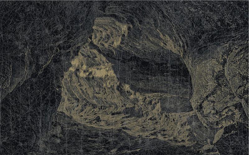 """Percée , 2016 Acrylique sur toile  51 1/8 x 81 7/8"""""""